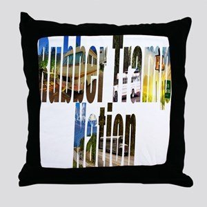 Rubber Tramp Nation Throw Pillow