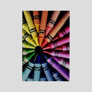 Crayon Color Wheel Rectangle Magnet