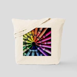 Crayon Color Wheel Tote Bag
