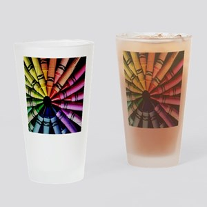 Crayon Color Wheel Drinking Glass