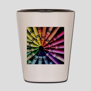 Crayon Color Wheel Shot Glass