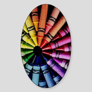 Crayon Color Wheel Sticker (Oval)