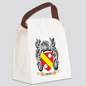 Petz Coat of Arms - Family Crest Canvas Lunch Bag