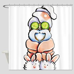 Shih Tzu Spa Shower Curtain
