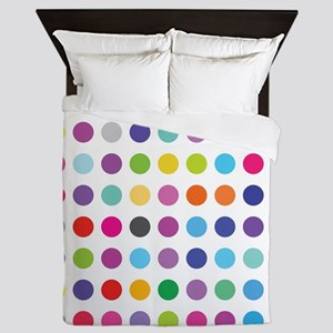 Colourful Dots, Queen Duvet