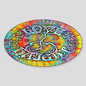 Love-Peace-Haight Sticker (Oval)