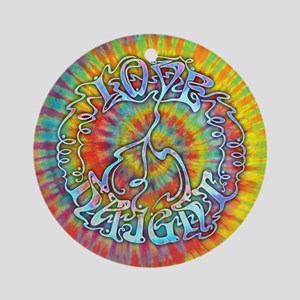 Love-Peace-Haight Ornament (Round)
