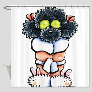 Spa Poodle Shower Curtain