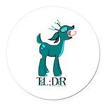 TL;DR Teal Deer Round Car Magnet