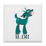TL;DR Teal Deer Tile Coaster