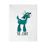 TL;DR Teal Deer Twin Duvet