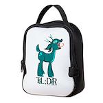 TL;DR Teal Deer Neoprene Lunch Bag
