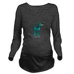 TL;DR Teal Deer Long Sleeve Maternity T-Shirt