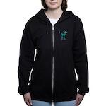 TL;DR Teal Deer Women's Zip Hoodie