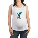 TL;DR Teal Deer Maternity Tank Top