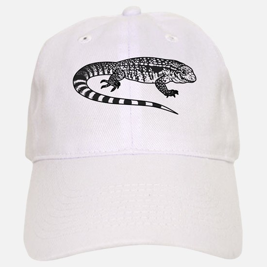 Black And White Tegu Baseball Baseball Cap