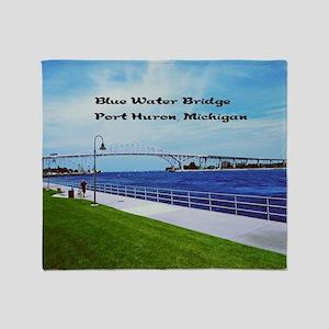 Blue Water Bridge  Throw Blanket