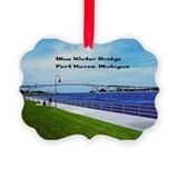 Blue water bridge Picture Frame Ornaments