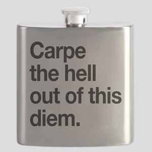 Carpe the Hell Out of This Diem Flask