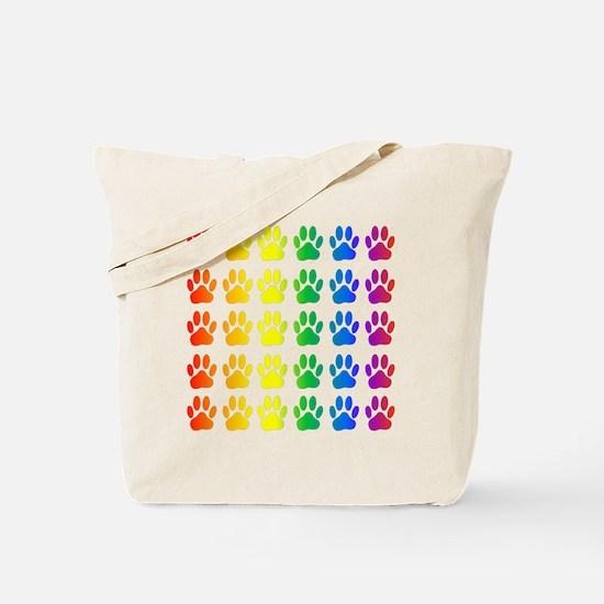 Unique Rainbow paws Tote Bag