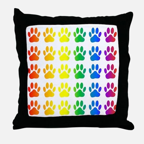 Unique Rainbow Throw Pillow