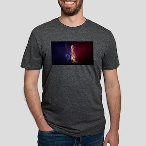Cool Music Guitar Fire Water Artistic T-Shirt