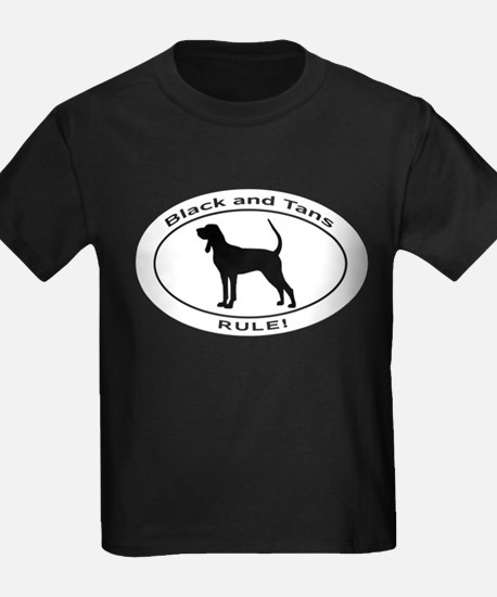 BLACK and TAN COONHOUND T