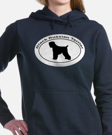 BLACK RUSSIAN TERRIER Women's Hooded Sweatshirt
