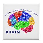 Bbbb Brain Tile Coaster