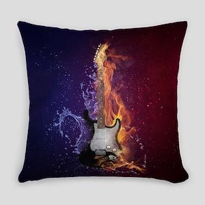 Cool Music Guitar Fire Water Artis Everyday Pillow
