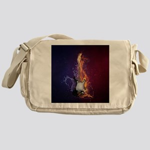 Cool Music Guitar Fire Water Artisti Messenger Bag