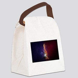 Cool Music Guitar Fire Water Arti Canvas Lunch Bag