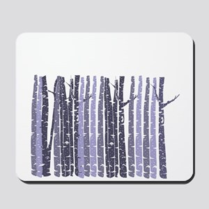Purple Birch Trees Mousepad