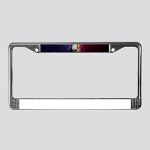 Cool Music Guitar Fire Water A License Plate Frame