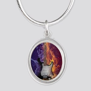 Cool Music Guitar Fire Water Artistic Necklaces