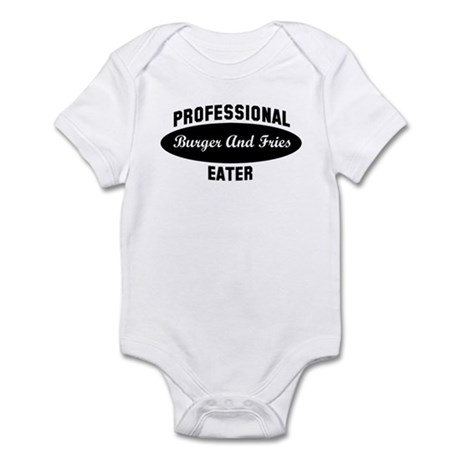 Pro Burger And Fries eater Infant Bodysuit