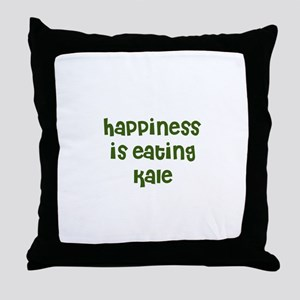 happiness is eating kale Throw Pillow