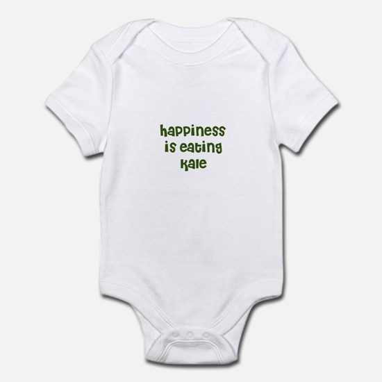 happiness is eating kale Infant Bodysuit