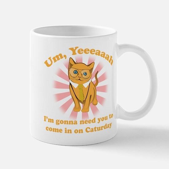 Business Office Cat Caturday Mug