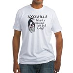 Adore-A-Bull! Pit Bull Fitted T-Shirt