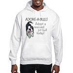 Adore-A-Bull! Pit Bull Hooded Sweatshirt