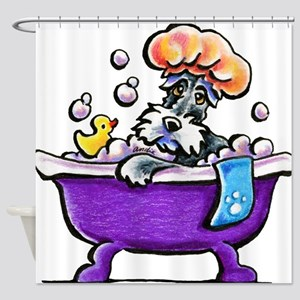 Schnauzer Bath Shower Curtain