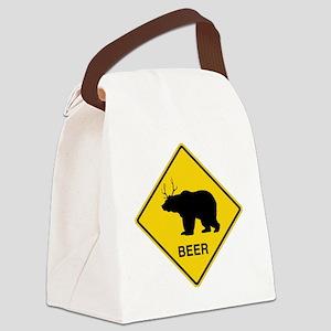 Beer bear deer  Canvas Lunch Bag
