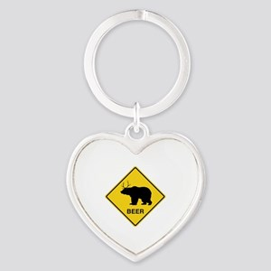 Beer bear deer  Heart Keychain
