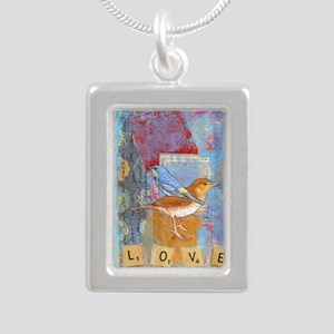 Infinite Love andGratitu Silver Portrait Necklace