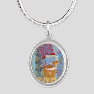 Infinite Love andGratitude Silver Oval Necklace