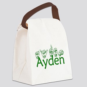Ayden in ASL Canvas Lunch Bag