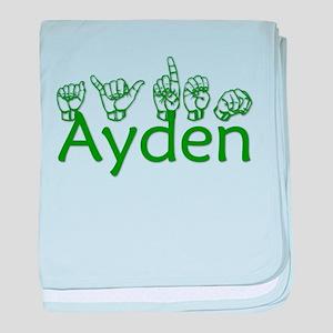 Ayden in ASL baby blanket
