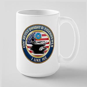 CVN-69 USS Eisenhower Large Mug