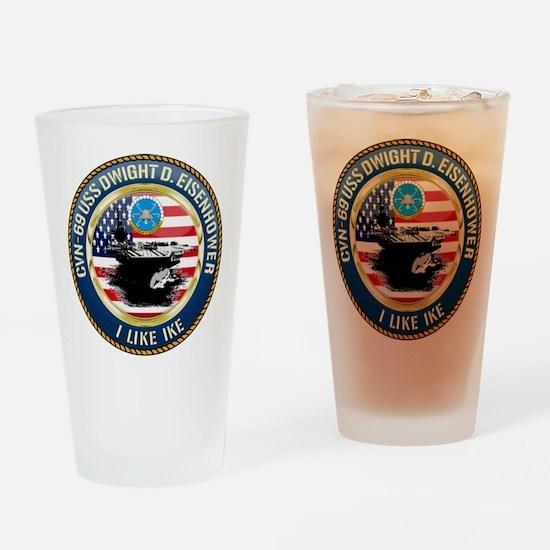 CVN-69 USS Eisenhower Drinking Glass